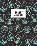Bullet Journal: Cactus in Black Angles | 150 Dot Grid Pages (size 8x10 inches) | with Bullet Journal Sample Ideas
