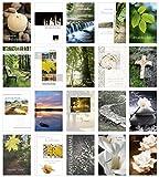 Set 20 einfühlsame Trauerkarten/Beileidskarten mit Umschlag. Trauerkarte Beileidskarte mit Spruch schreiben (Doppelkarten/Klappkarten mit Briefumschlag)