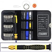 26 en 1 Destornilladores Presición portátil de Doble Acabado de Metal Spudger Reparación y Desmontar de Apertura Herramienta de Palanca DIY para Gafa,DualShock,iPhone Samsung Motorola