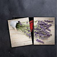 "DEKOGLAS Herdabdeckplatten /""Abstraktion/"" 60x52 Glas Ceranfeld-Abdeckung Herd Set"
