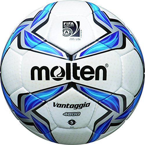 molten, Pallone da calcio, Bianco (Weiß/Blau/Silber), 5
