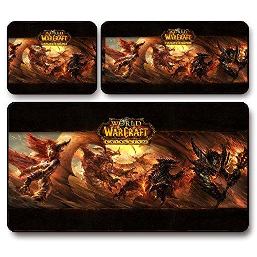 MISSHANA World of Warcraft wow pad cataclisma mouse da gioco corposa , 44 * 35 (World Of Warcraft Mouse Pad)