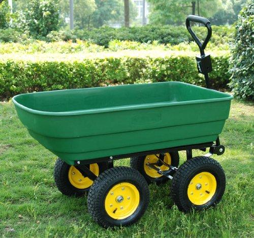 Chariot de jardin a main garden cart truck cuve basculante max.250kg 62