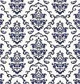 Klebefolie - Möbelfolie Ornamente Weiss Blau - 45 cm x 200 cm