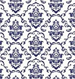 Klebefolie - Möbelfolie Ornamente Weiss Blau - 45 cm x 200 cm Selbstklebende Folie mit modernen Barock Dekor - Selbstklebefolie
