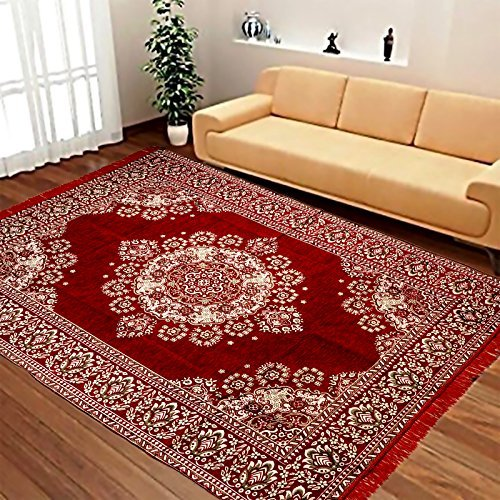 Laying Style Velvet Touch Abstract Chenille Carpet - 84