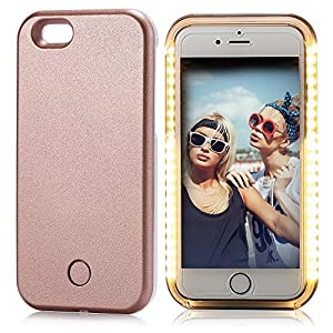 iphone 6s plus case elftear led light up luminous selfie cell phone case illuminated back cover. Black Bedroom Furniture Sets. Home Design Ideas