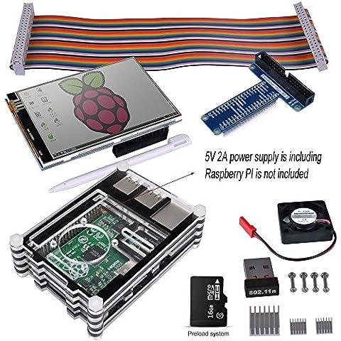 Kuman Complete Starter kit for Raspberry Pi 3 2 (11-Items)