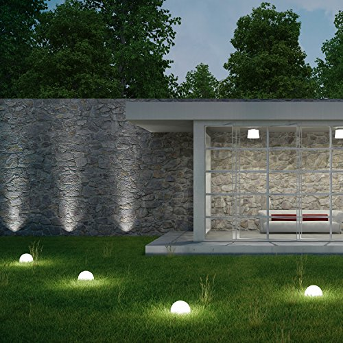 plaights solar bodenleuchten au en led in wei 5 bodenstrahler und 1 solarmodul enthalten. Black Bedroom Furniture Sets. Home Design Ideas