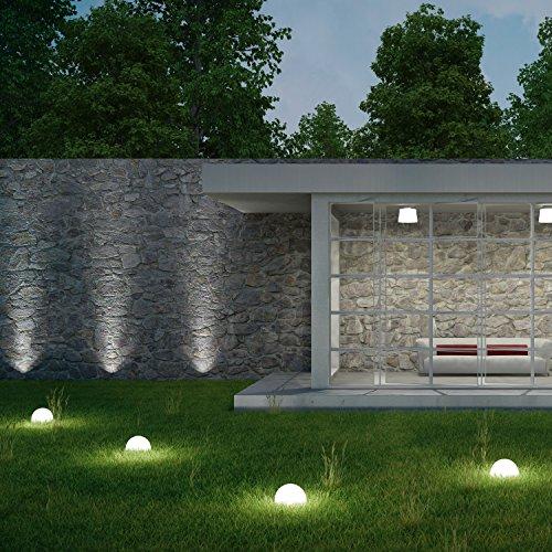 plaights solar bodenleuchten au en led in wei 5 bodenstrahler und 1 solarmodul enthalten. Black Bedroom Furniture Sets. Home Design Ideas