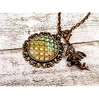Halskette mit Drachen und Drachenschuppen Mittelalter Schmuck