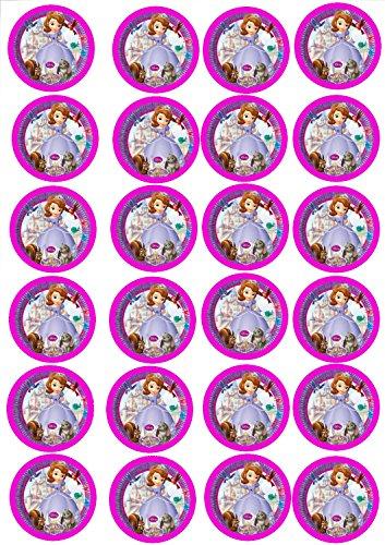 24 Muffin & Cupcake Aufleger Fondant Sofia die Erste C6