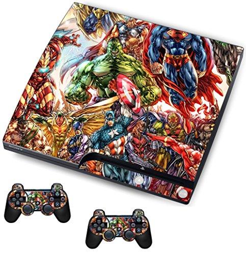 Superhero Sticker/Skin PS3Playstation Slimline Konsole und Fernbedienung Controller Aufkleber, psk27 -