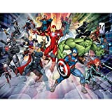 Avengers 2019 Wall Mural, Multicolore, 2, 4 m (H) x 3 M (L)
