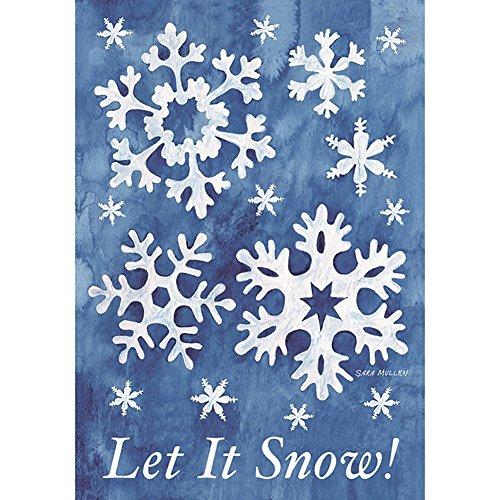 (Hankyky Weihnachtsgarten Flagge Winter Hof Outdoor Decor 100D Polyester Saisonale Festliche Urlaub Flags 12