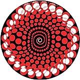 Zomo Slipmat Balls Red, panno antistatico per console, confezione da 2 pezzi