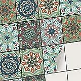 creatisto Fliesenaufkleber Fliesenfolie Mosaikfliesen - Selbstklebende Fliesen Folie | Stickerfliesen - Mosaikfliesen für Küche, Bad, WC Bordüre (20x25 cm | 18 -Teilig)