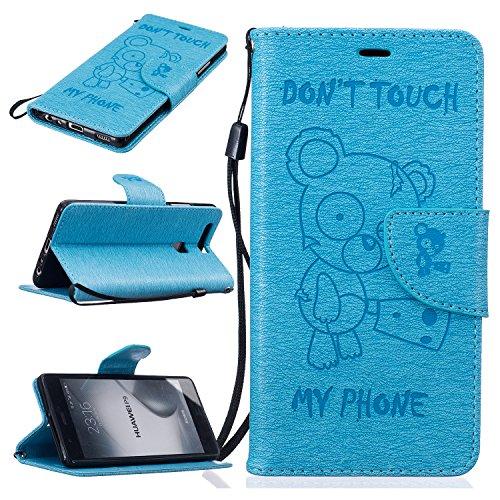 Funda Huawei P9 Case , Ecoway Winnie el patrón de gofrado PU Leather