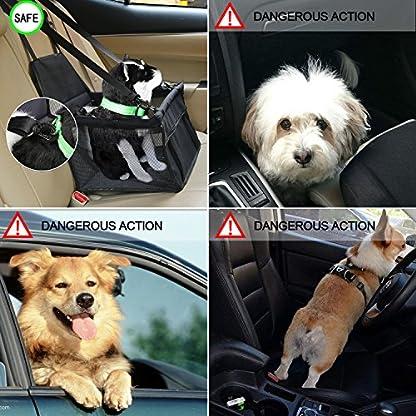 Aandyou Pet Car Booster Seat Breathable Waterproof Pet Dog Car Supplies Travel Pet Car Carrier Bag Seat Protector Cover… 2