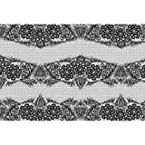 #9: ArtzFolio Black Lace Art & Craft Gift Wrapping Paper 18 x 12inch;SET OF 10 PCS
