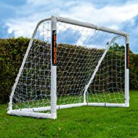 Football Flick All Weather uPVC Football Goal with UV treated 70mm thick posts (Sizes: 6x4, 8x4, 8x6, 12x6)