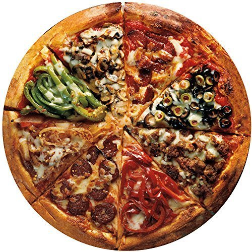 Bits and Pieces-Pizza Pie - 300 Piece Round Jigsaw Puzzle Pizza Pie