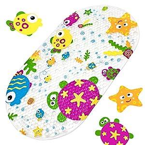Badewannenmatte Baby Wanneneinlage Yolife Schönen Optik Anti-Rutsch Badematte Karikatur Entwurf Massage Dusche Badematte für Baby Kinder 39 x 69 cm