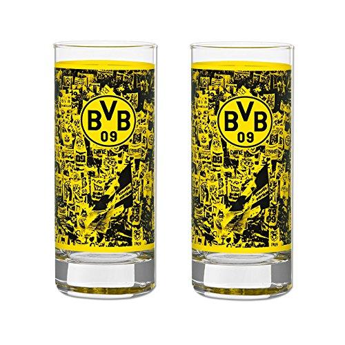 BVB-Wasserglas (2er-Set) one size