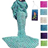 DDMY Mermaid Tail Blanket Handmade Crochet Mermaid Blanket - Best Reviews Guide