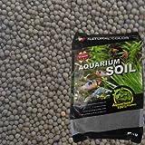 Natürliche Farbe Aquarium gepflanzt Tropische Fische Tank Kies vulkanischen Substrat Erde schwarz 2–4mm 5kg