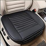 Sitzkissen Universal Sitzauflagen Autositzbezüge BambusKohle PU Leder Sitzauflage(schwarz)