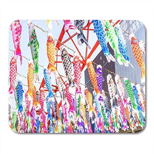 Luancrop Mauspad Karpfen Windsack Flagge ist das Symbol der Boy Day Mousepad für Notebooks, Desktop-Computer Mauspads, Bürobedarf