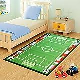 FunkyBuys® Kids campo de fútbol alfombra diseño moderno alfombra de juegos infantil alfombra antideslizante–3tamaños mejor precio, 100% poliamida, 80 x 120 cm