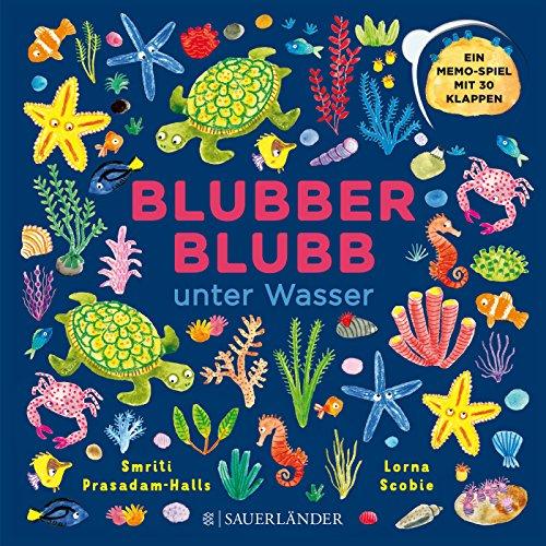 Blubber-Blubb unter Wasser: Ein Memospiel mit 30 Klappen