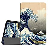 Coque Samsung Galaxy Tab A 10.1 - Fintie Slim Fit Housse Support Ultra-Mince et Léger Etui Cover avec Sleep Wake Up fonction pour Samsung Galaxy Tab A (2016) SM-T580 SM-T585 10,1' Tablette, Rough Sea