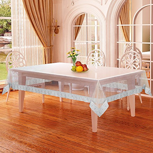 Alpac PVC Plastic Transparent Clear Dining Table Cover Cloth Tablecloth Waterproof Protector,...