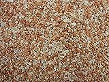 Natursteinteppich-Fliese Classic Line Rosé - flexible Bodenfliese für Innen und Außen aus italienischem Marmorkies, Teppichfliese, Marmorteppich, Terassenboden, Poolumrandung - 1m² Paket (4 Stück 50x50 cm)