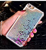 KC Floating Sparkle Liquid Glitter Star Transparent Hard Case Back Cover for Apple