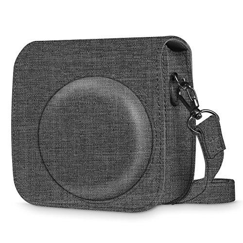 Fintie Tasche für Fujifilm Instax Mini 8/Mini 9 Sofortbildkamera - Premium Stoff Schutzhülle Reise Kameratasche Hülle Abdeckung mit Abnehmbaren Riemen,u00a0Stoff Dunkelgrau