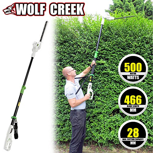 Wolf Creek Electric Hedge Trimmer - HT50 Telescopic Pole Long Reach