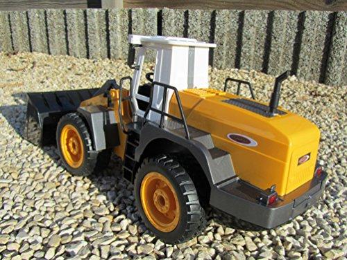 RC Auto kaufen Baufahrzeug Bild 6: Jamara RC Bagger Radlader Inklusive Kieselsteine 440 1:20 Länge 44cm Ferngesteuert*