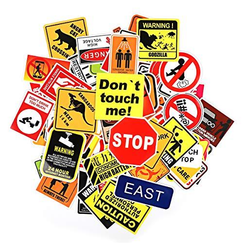 (Q-Window Aufkleber Pack Graffiti Decal Vinyl Sticker für Laptop, Koffer, Wand, Skateboard, Auto, Motorrad, Snowboard, iPhone, Nintendo Bomb Aufkleber Stickers Wasserdicht (100 Gefahr Warnaufkleber))
