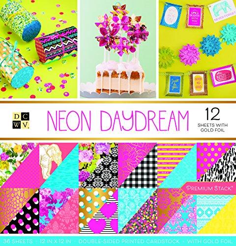 American Crafts Neon Daydream Premium Bedruckt Karton Stack -