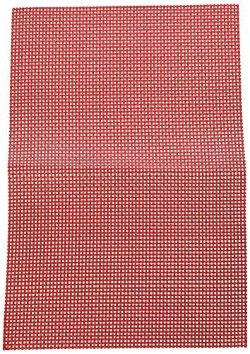 KESPER Set de Table en plastiqué en Rouge Plastique, 43x29x0,1 cm