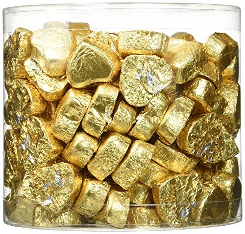 Günthart Kleine Schokoladen-Herzen, gold, 1er Pack (1 x 1.1 kg) (Gold Schokolade)