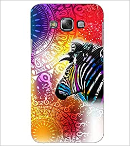 Printdhaba Abstract Image D-5042 Back Case Cover For Samsung Galaxy A7