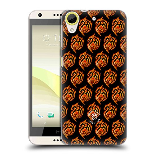 Official Anne Stokes Dragon Logo Pattern Fire Tribal Hard Back Case for HTC Desire 650