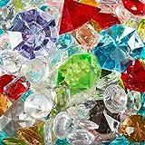 naninoa® Deko Diamanten/Brillanten gemischt. Kunststoff. Schatz Mischung bunt. 12-32 mm. 200 ml.