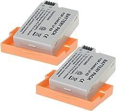 TOP-MAX 2x Akku Batterie für Canon LP-E8 EOS 700D 650D 600D 550D T2i T3i T4i X4 X5 X6 LPE8