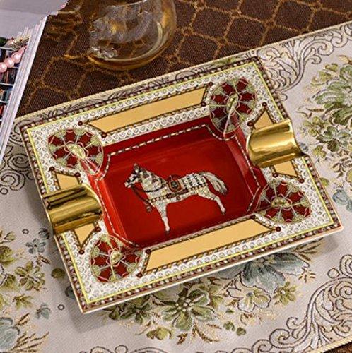 shuaishuaiguo AA Exquisite europäische Keramik Aschenbecher/Vintage/high-grade/Luxus/große Zigarre Aschenbecher dekorative Ornamente, 2